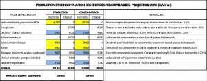 Production et consommation énergie renouvelable 2050 Suisse